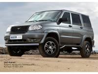 Защита переднего бампера d76 на новый УАЗ Патриот