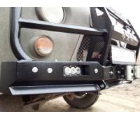 Бампер силовой передний УАЗ-452 РУБИКОН-5 с увеличенным кенгурином, швеллерами с названием и 4х4